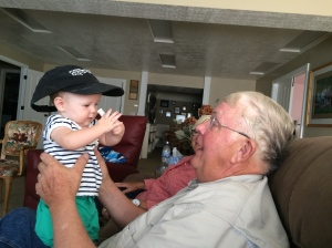 Grandpa and his youngest grandchild.
